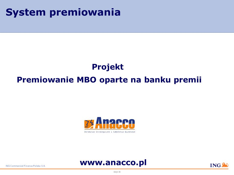 Premiowanie MBO oparte na banku premii