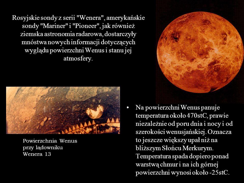 Rosyjskie sondy z serii Wenera , amerykańskie sondy Mariner i Pioneer , jak również ziemska astronomia radarowa, dostarczyły mnóstwa nowych informacji dotyczących wyglądu powierzchni Wenus i stanu jej atmosfery.
