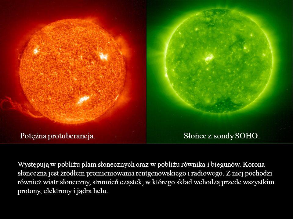 Potężna protuberancja. Słońce z sondy SOHO.