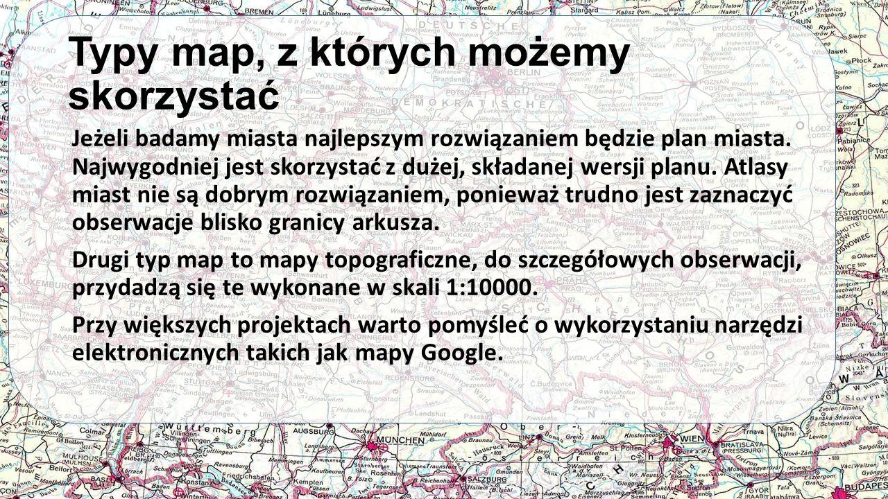 Typy map, z których możemy skorzystać