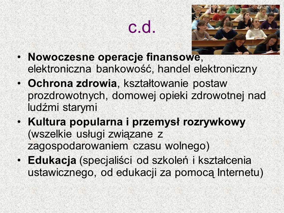 c.d. Nowoczesne operacje finansowe, elektroniczna bankowość, handel elektroniczny.