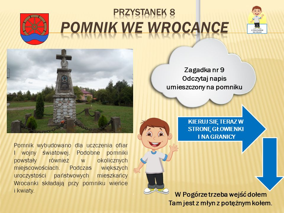 Przystanek 8 Pomnik we Wrocance