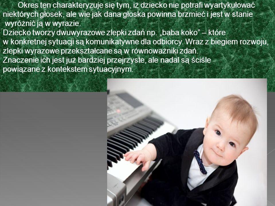 Okres ten charakteryzuje się tym, iż dziecko nie potrafi wyartykułować niektórych głosek, ale wie jak dana głoska powinna brzmieć i jest w stanie wyróżnić ją w wyrazie.