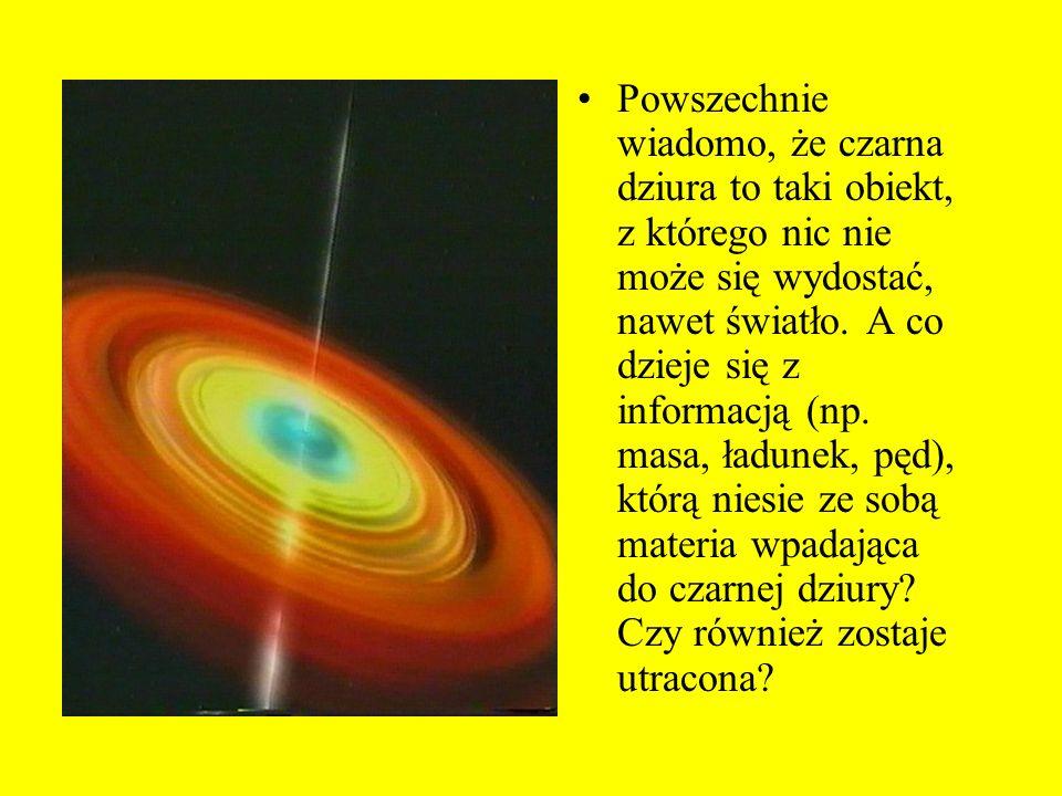 Powszechnie wiadomo, że czarna dziura to taki obiekt, z którego nic nie może się wydostać, nawet światło.