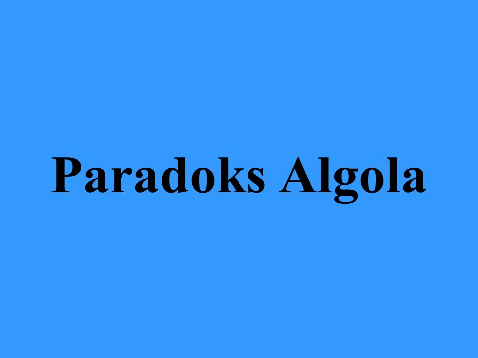 Paradoks Algola