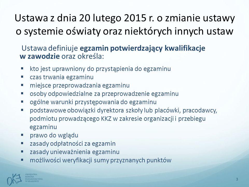 Ustawa z dnia 20 lutego 2015 r. o zmianie ustawy o systemie oświaty oraz niektórych innych ustaw