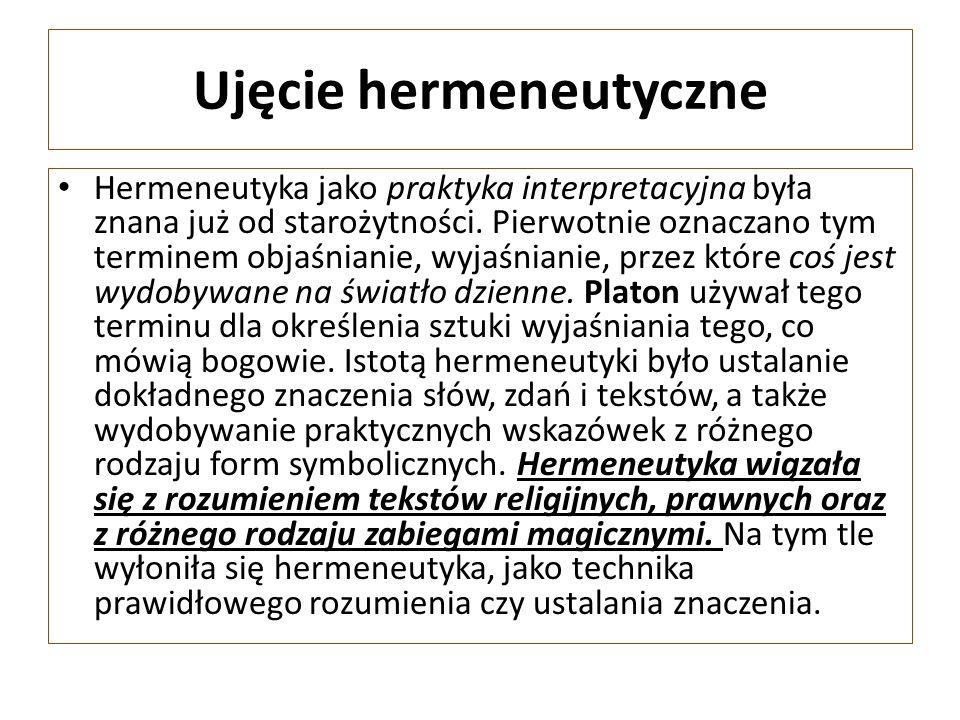 Ujęcie hermeneutyczne