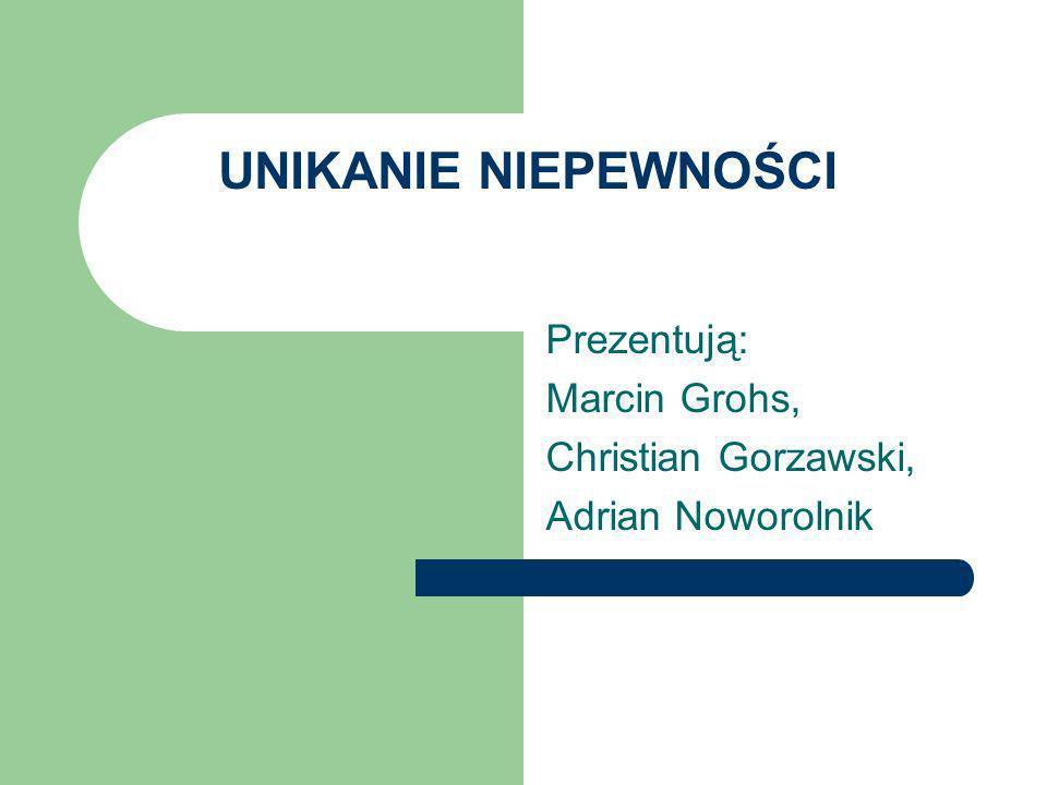 Prezentują: Marcin Grohs, Christian Gorzawski, Adrian Noworolnik