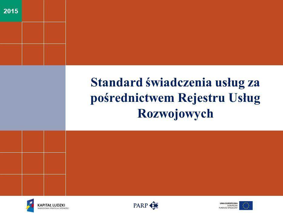 Standard świadczenia usług za pośrednictwem Rejestru Usług Rozwojowych