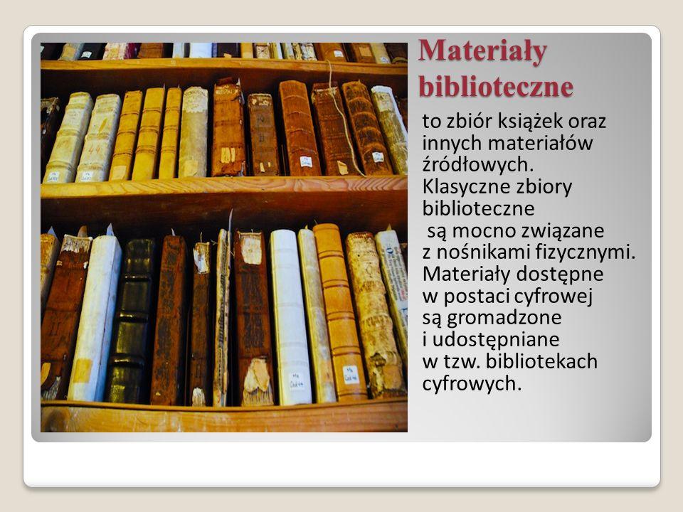 Materiały biblioteczne
