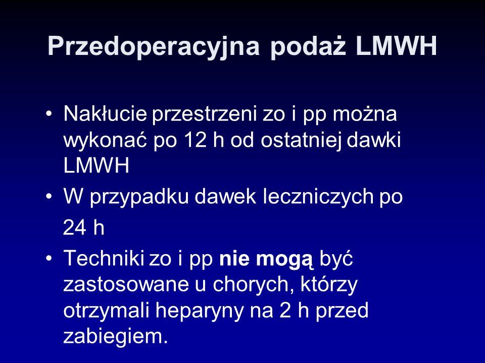 Przedoperacyjna podaż LMWH