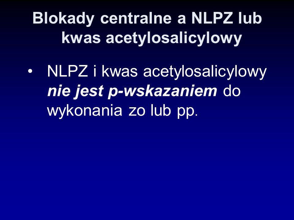 Blokady centralne a NLPZ lub kwas acetylosalicylowy