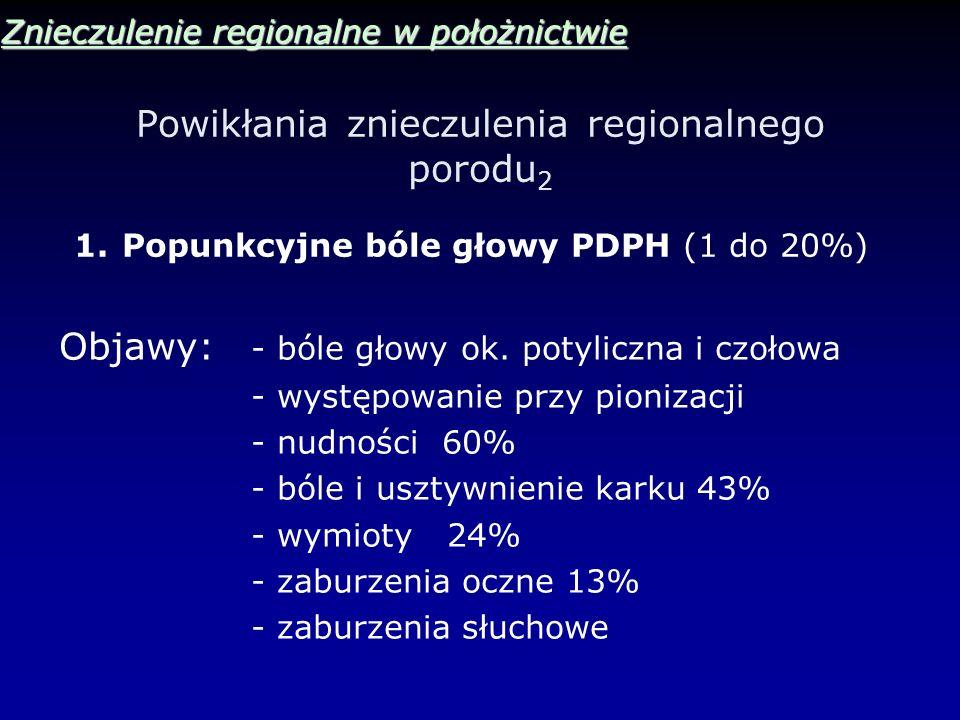 Powikłania znieczulenia regionalnego porodu2