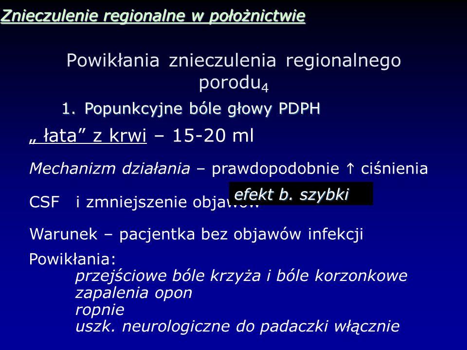 Powikłania znieczulenia regionalnego porodu4