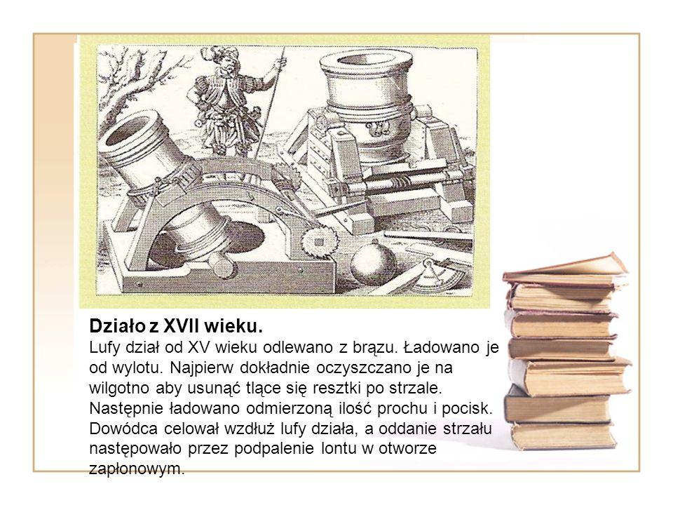 Działo z XVII wieku. Lufy dział od XV wieku odlewano z brązu