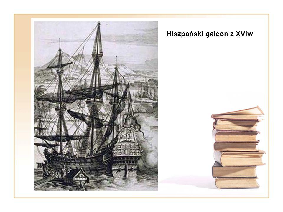 Hiszpański galeon z XVIw