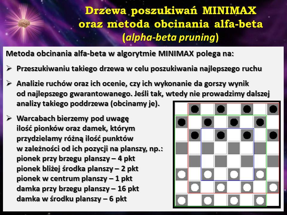 Drzewa poszukiwań MINIMAX oraz metoda obcinania alfa-beta (alpha-beta pruning)