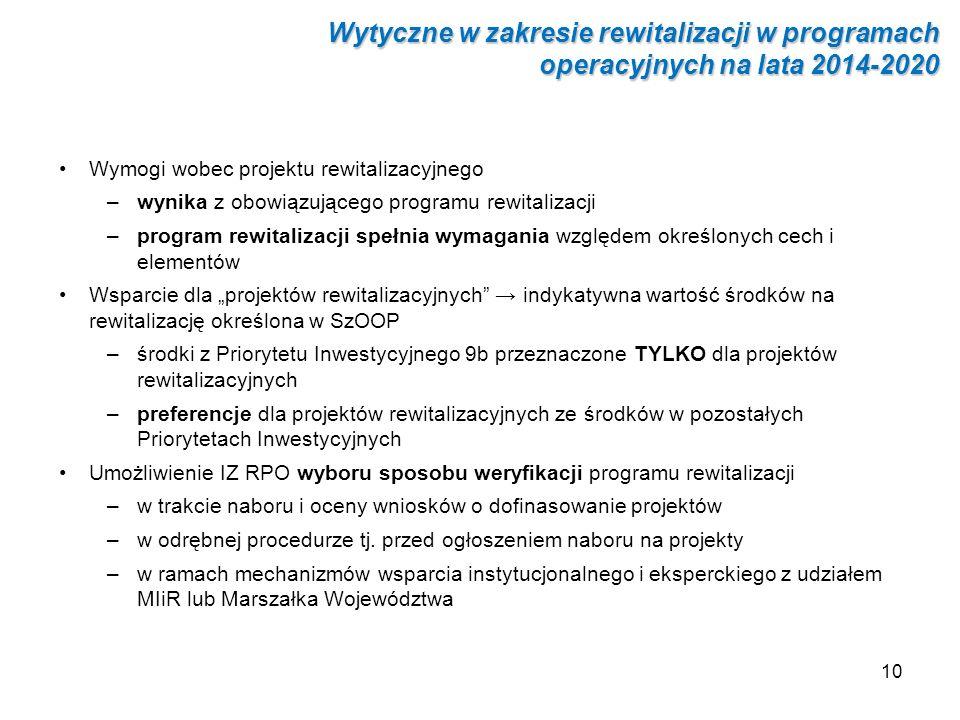 Wytyczne w zakresie rewitalizacji w programach