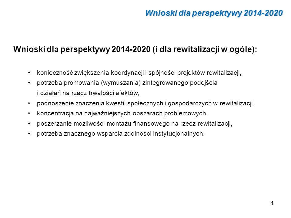 Wnioski dla perspektywy 2014-2020