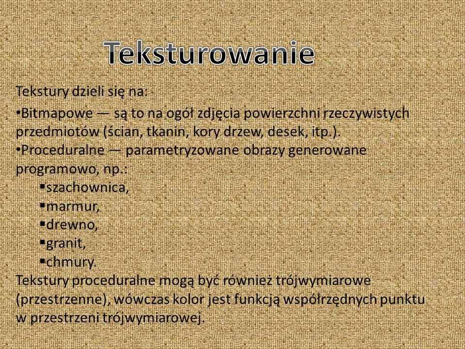 Teksturowanie Tekstury dzieli się na:
