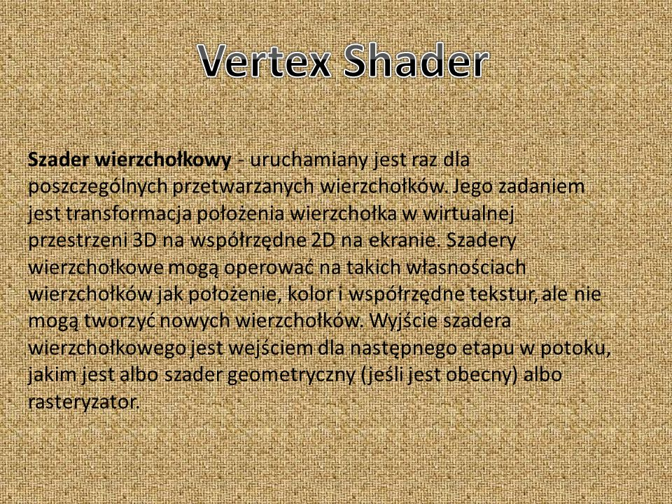 Vertex Shader