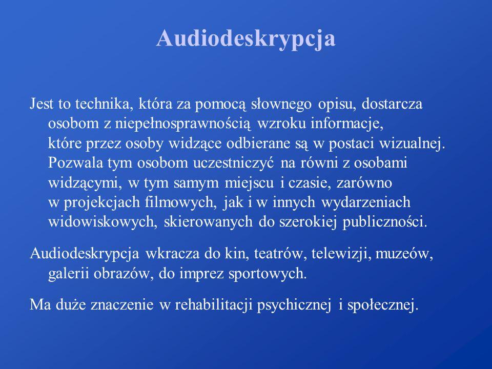 Audiodeskrypcja