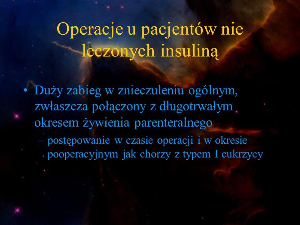 Operacje u pacjentów nie leczonych insuliną