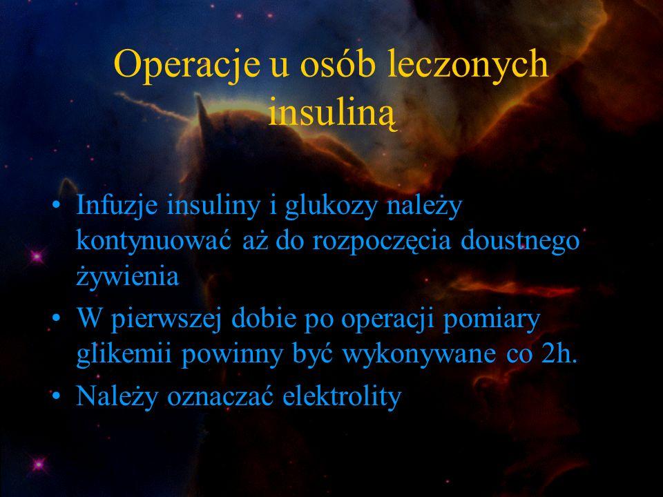 Operacje u osób leczonych insuliną