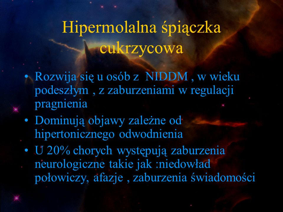 Hipermolalna śpiączka cukrzycowa