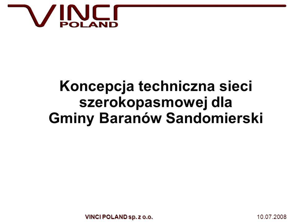 Koncepcja techniczna sieci szerokopasmowej dla Gminy Baranów Sandomierski