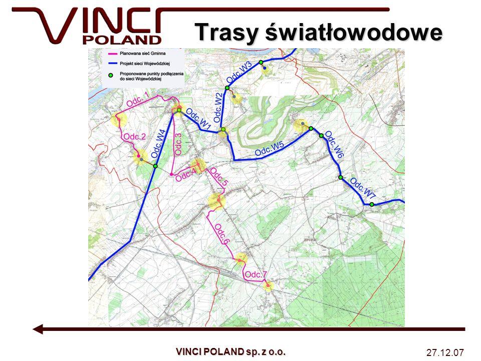 Trasy światłowodowe VINCI POLAND sp. z o.o. 27.12.07