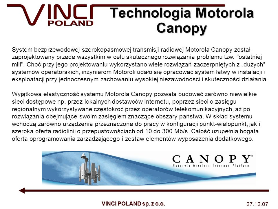 Technologia Motorola Canopy