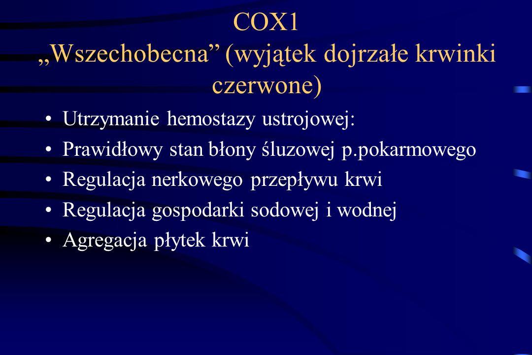 """COX1 """"Wszechobecna (wyjątek dojrzałe krwinki czerwone)"""