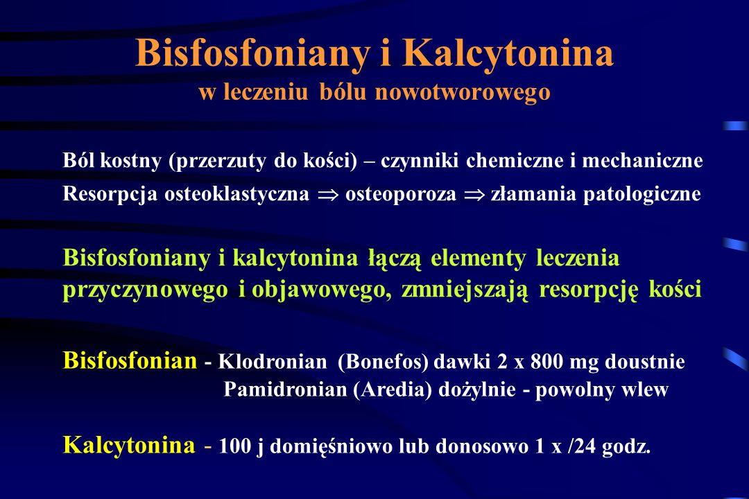 Bisfosfoniany i Kalcytonina w leczeniu bólu nowotworowego