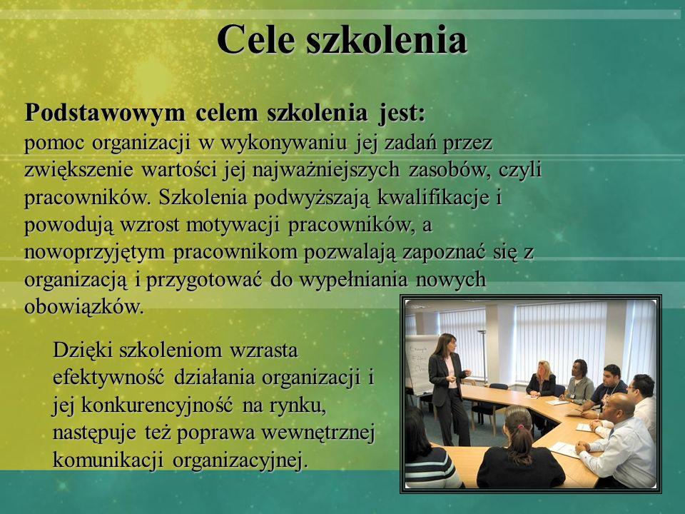 Cele szkolenia Podstawowym celem szkolenia jest: