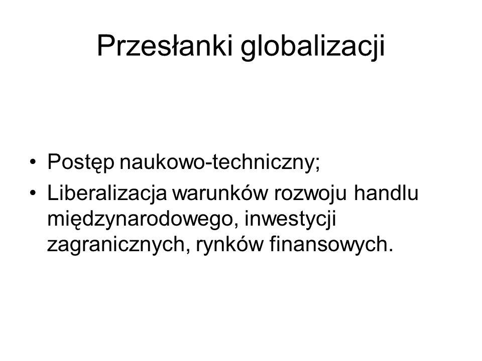 Przesłanki globalizacji