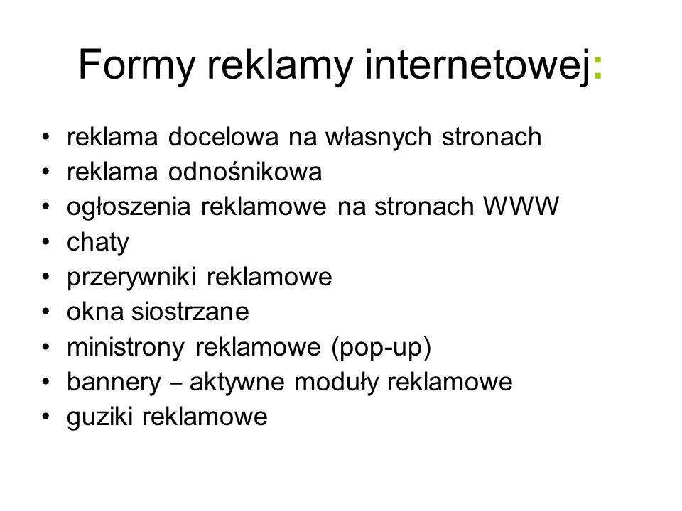 Formy reklamy internetowej: