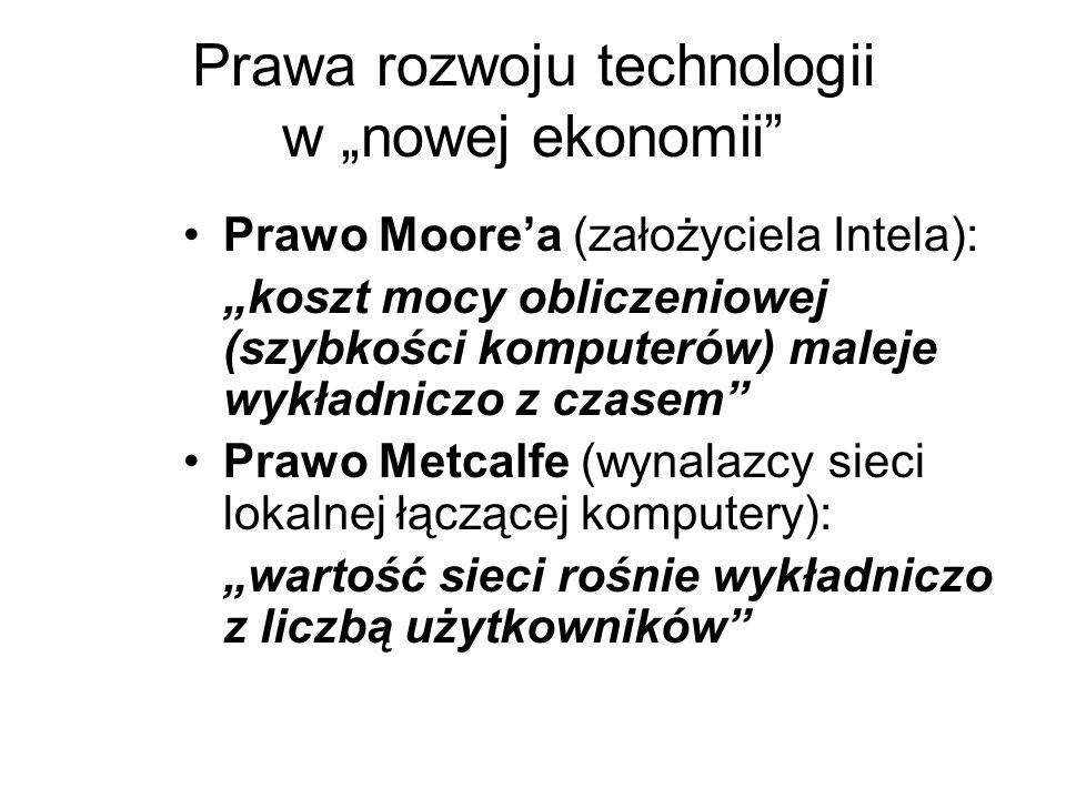 """Prawa rozwoju technologii w """"nowej ekonomii"""