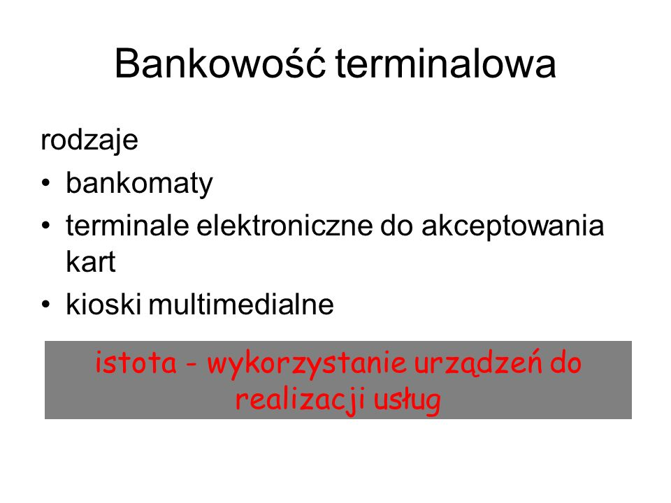Bankowość terminalowa