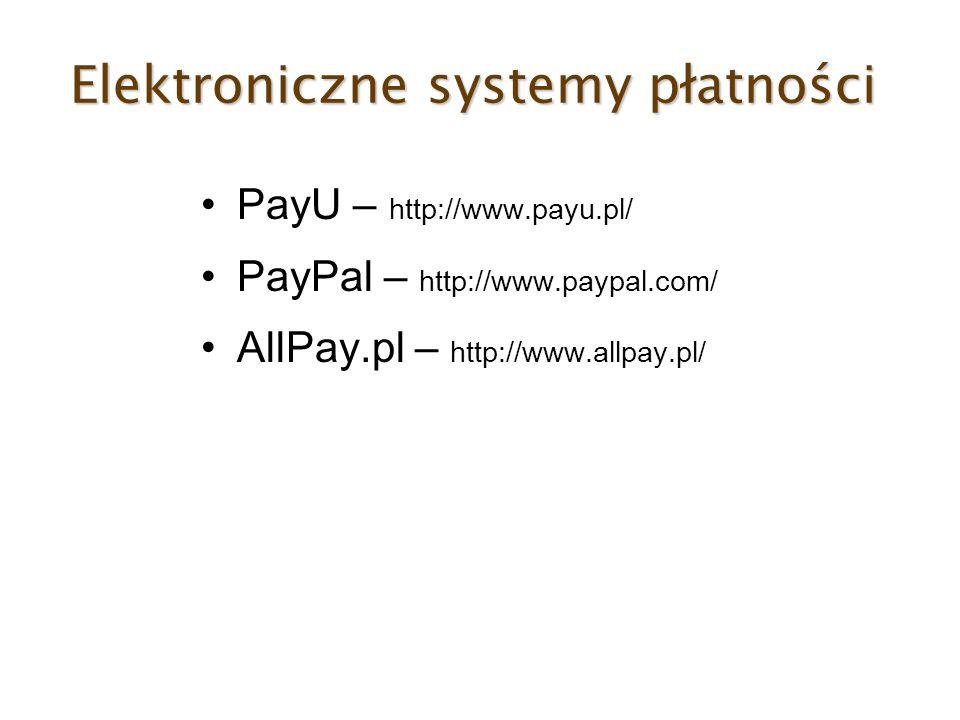 Elektroniczne systemy płatności