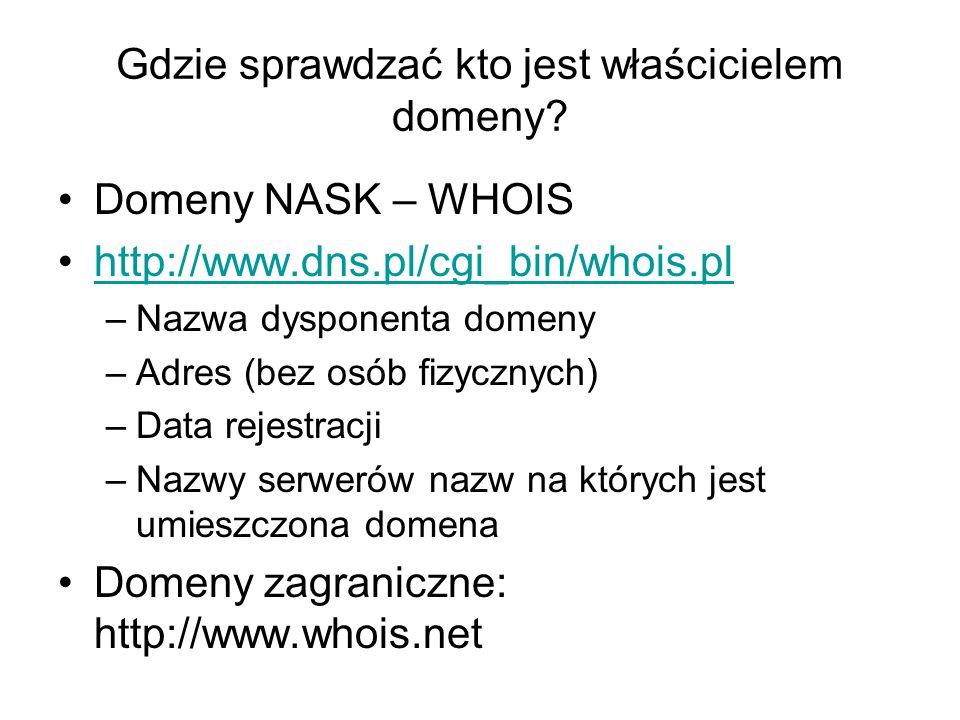 Gdzie sprawdzać kto jest właścicielem domeny