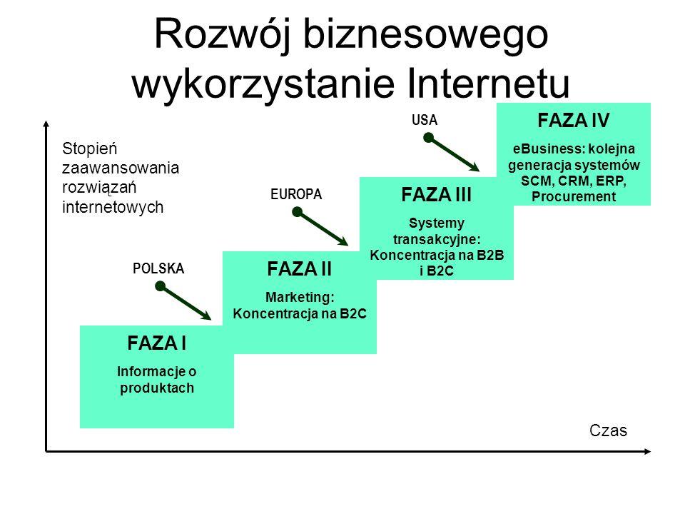 Rozwój biznesowego wykorzystanie Internetu