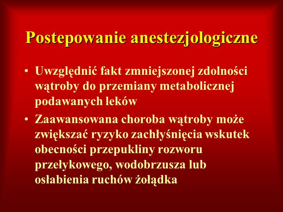 Postepowanie anestezjologiczne