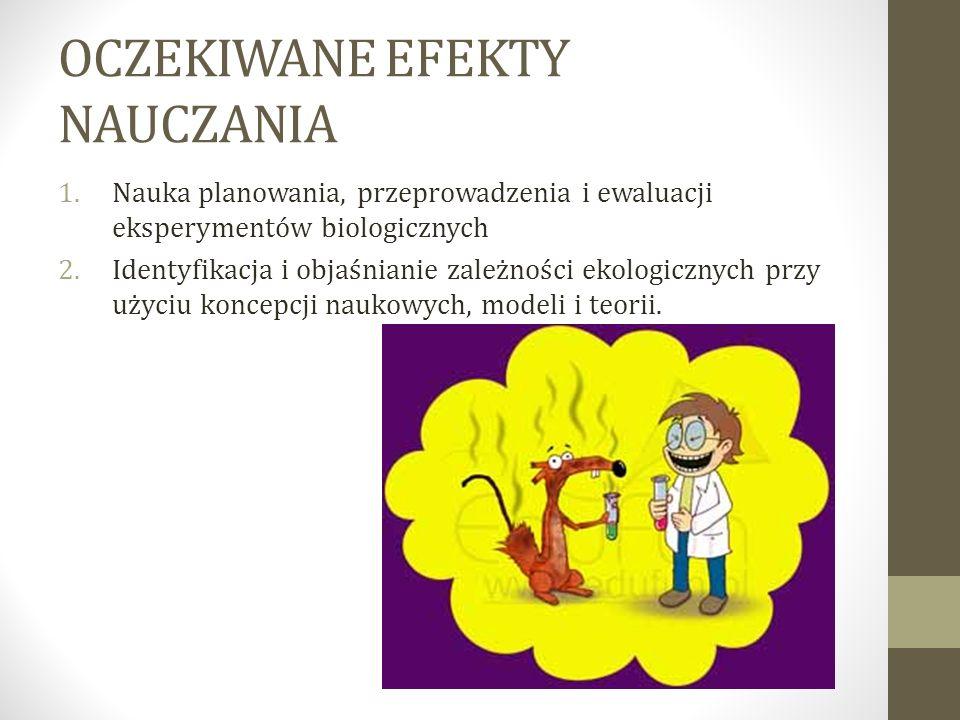 OCZEKIWANE EFEKTY NAUCZANIA