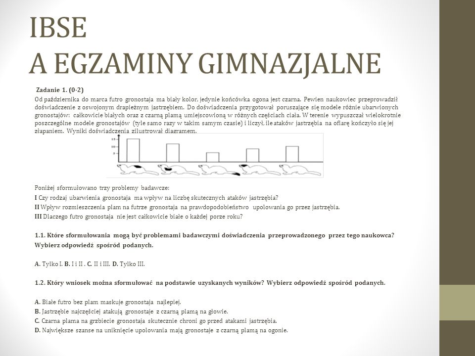 IBSE A EGZAMINY GIMNAZJALNE
