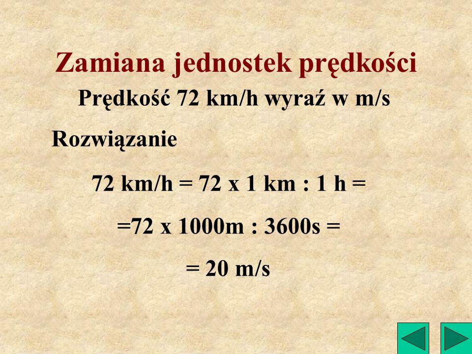 Zamiana jednostek prędkości