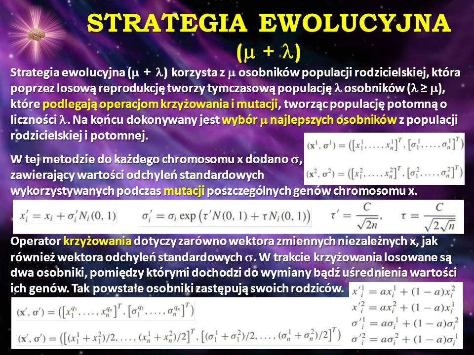 STRATEGIA EWOLUCYJNA ( + )