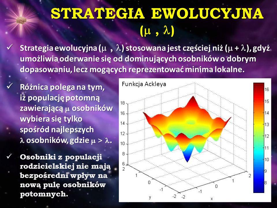STRATEGIA EWOLUCYJNA ( , )