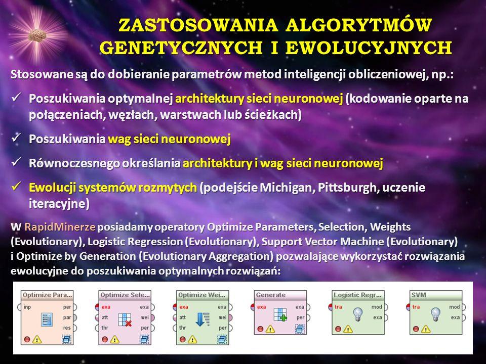 ZASTOSOWANIA ALGORYTMÓW GENETYCZNYCH I EWOLUCYJNYCH
