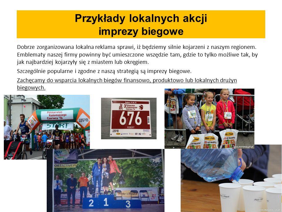 Przykłady lokalnych akcji imprezy biegowe